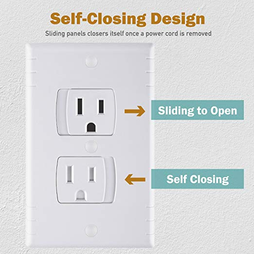 self closing electrical outlet covers